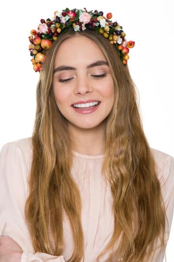 Corona frutal Roses&Berries;