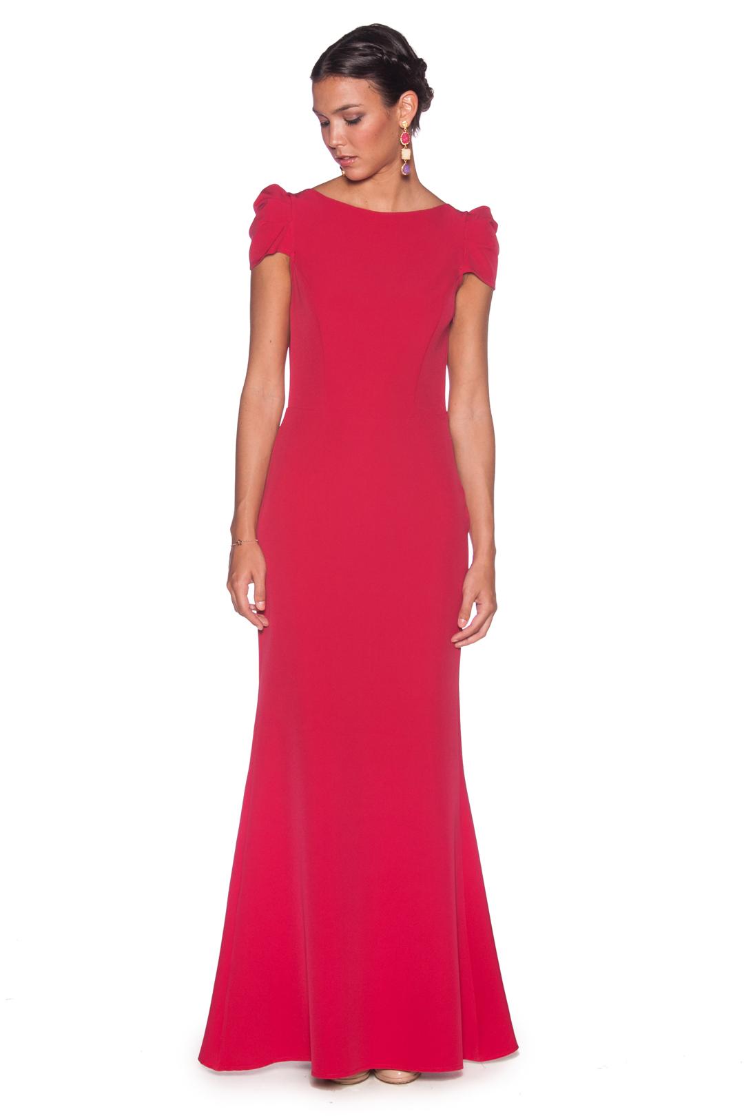front - Vestido Fresa Peplum