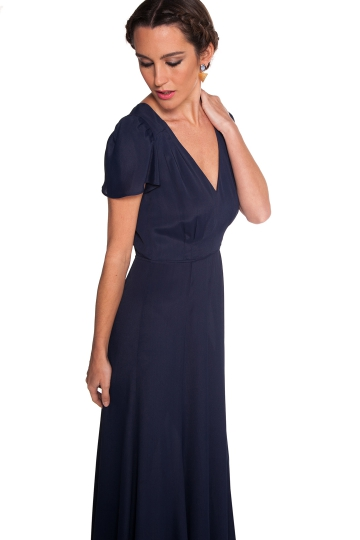 Vestido Reformation Blue Night