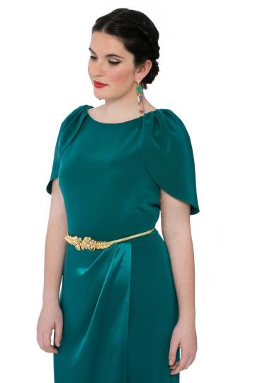 Vestido Green Overskirt