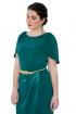 front - Vestido Green Overskirt