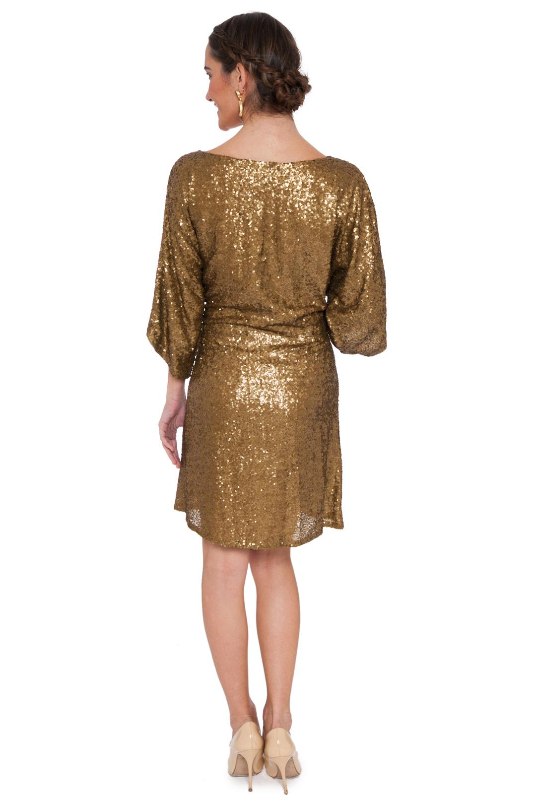 left - Vestido Gold Paillettes