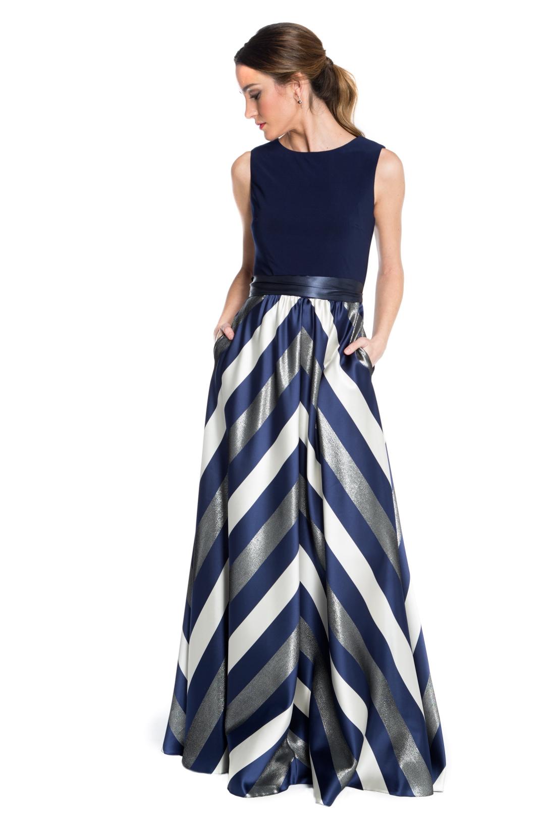 back - Vestido Navy Stripes