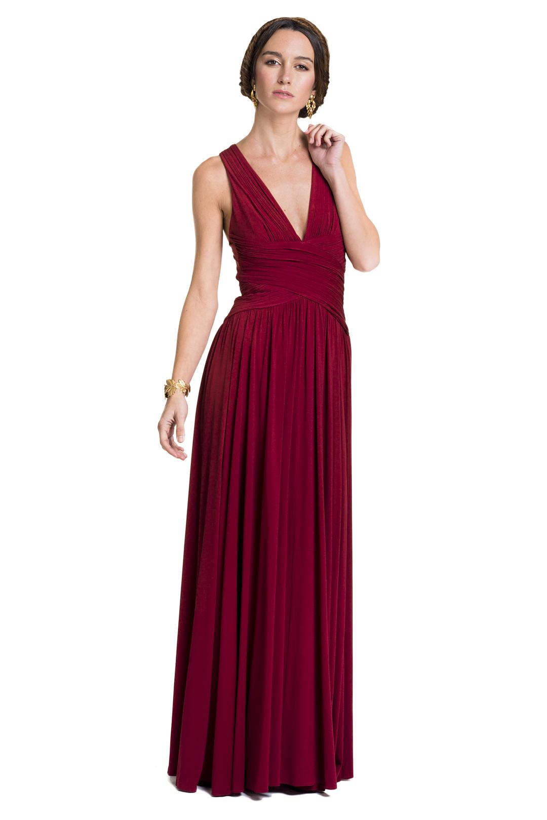 La Vestidos Más Mona Stretch Burdeos Vestido Alquiler De 3Rj5A4Lq