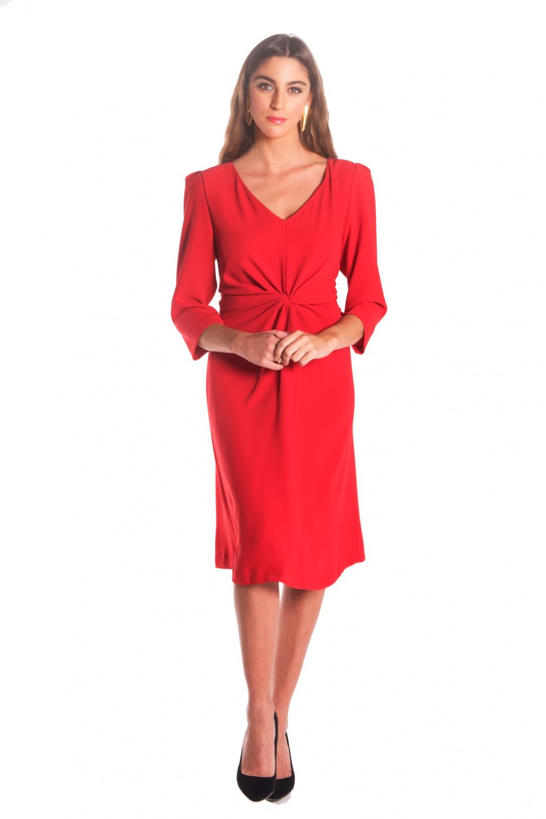 back - Vestido Moli Rojo