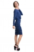 left - Vestido Azul Draped