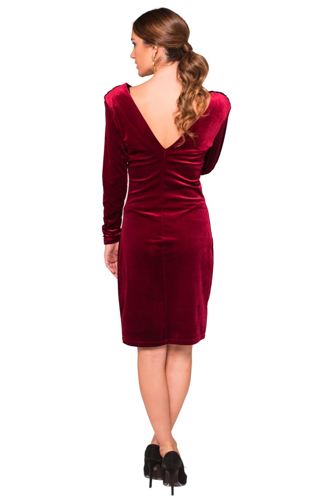 left - Vestido Grape Velvet