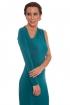front - Vestido Geometric Emerald