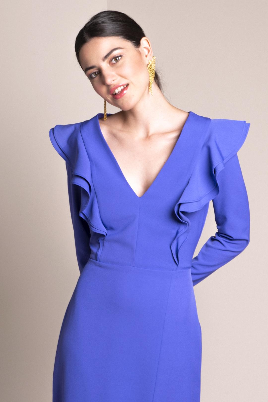 front - Vestido Aurelie Morado