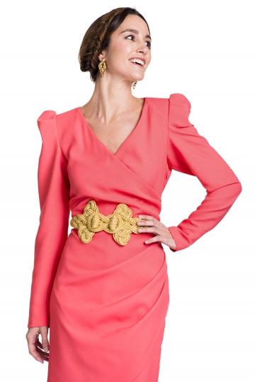Vestido Cross Coral