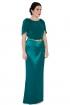 back - Vestido Green Overskirt