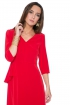 front - Vestido Elie Red