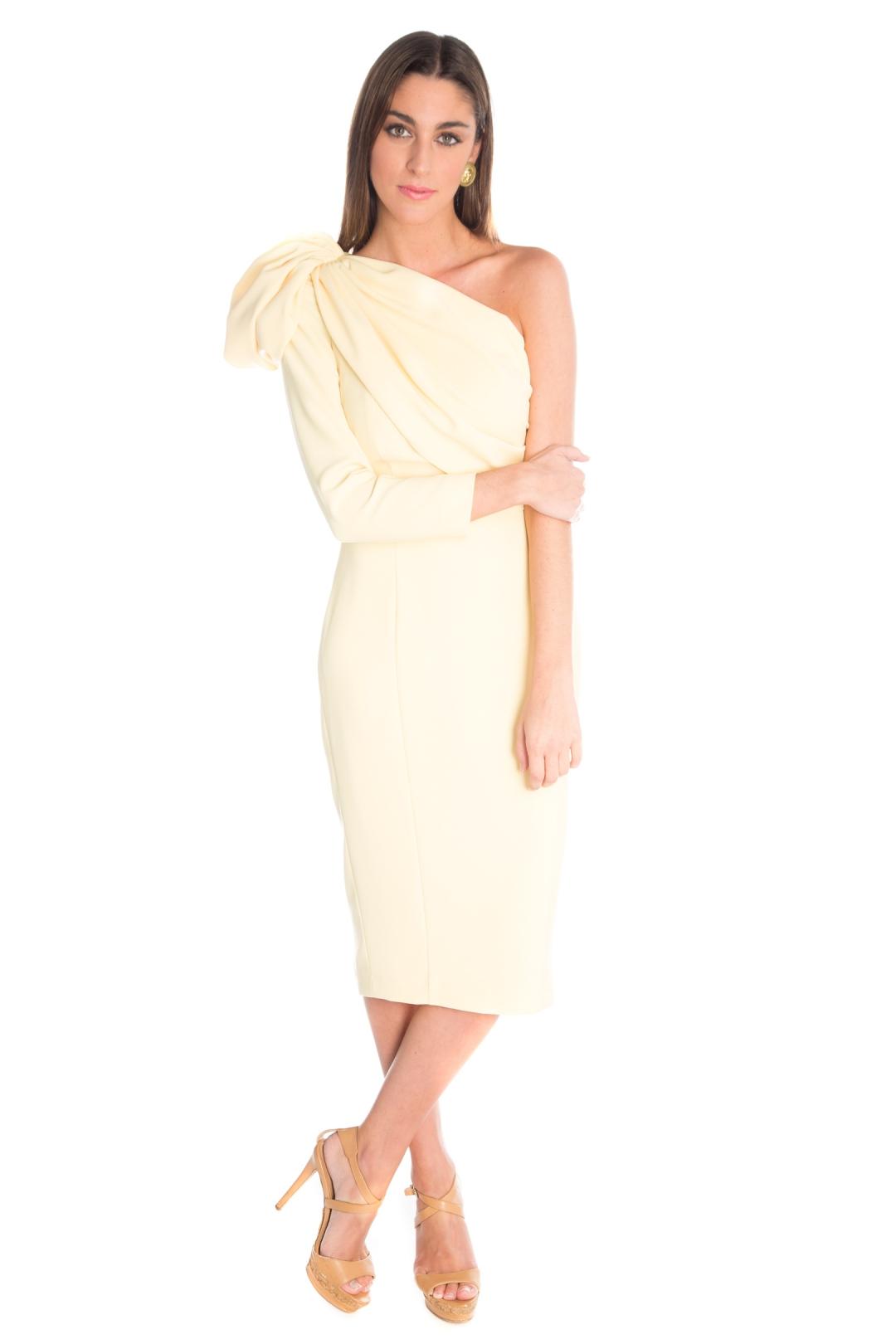 back - Vestido Belisa Amarillo