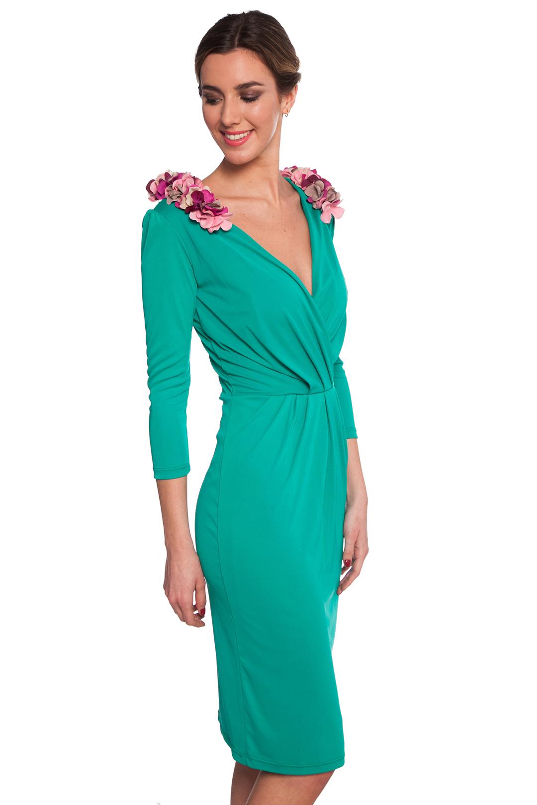 Vestido Shandy Green - Alquiler de Vestidos - La Más Mona