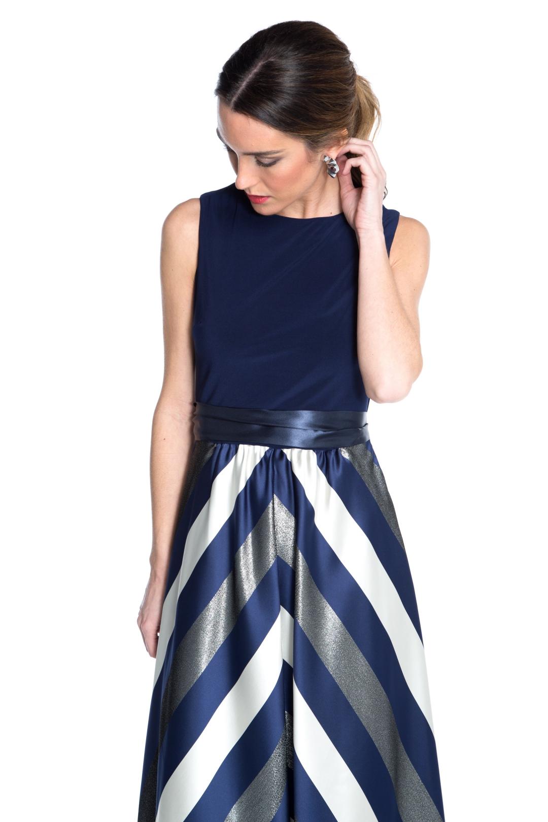 front - Vestido Navy Stripes