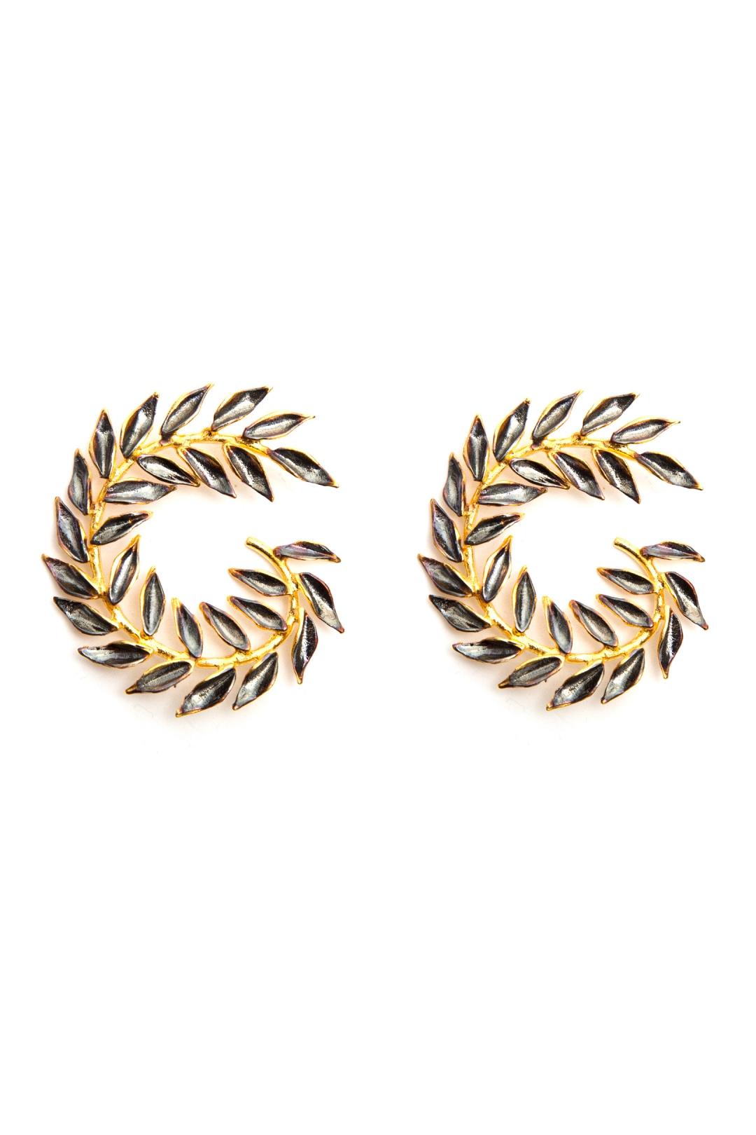front - Pendientes Espiral Black