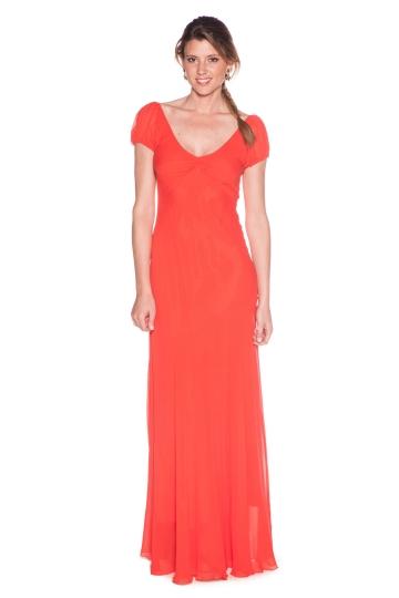 Vestido Cortesana Coral
