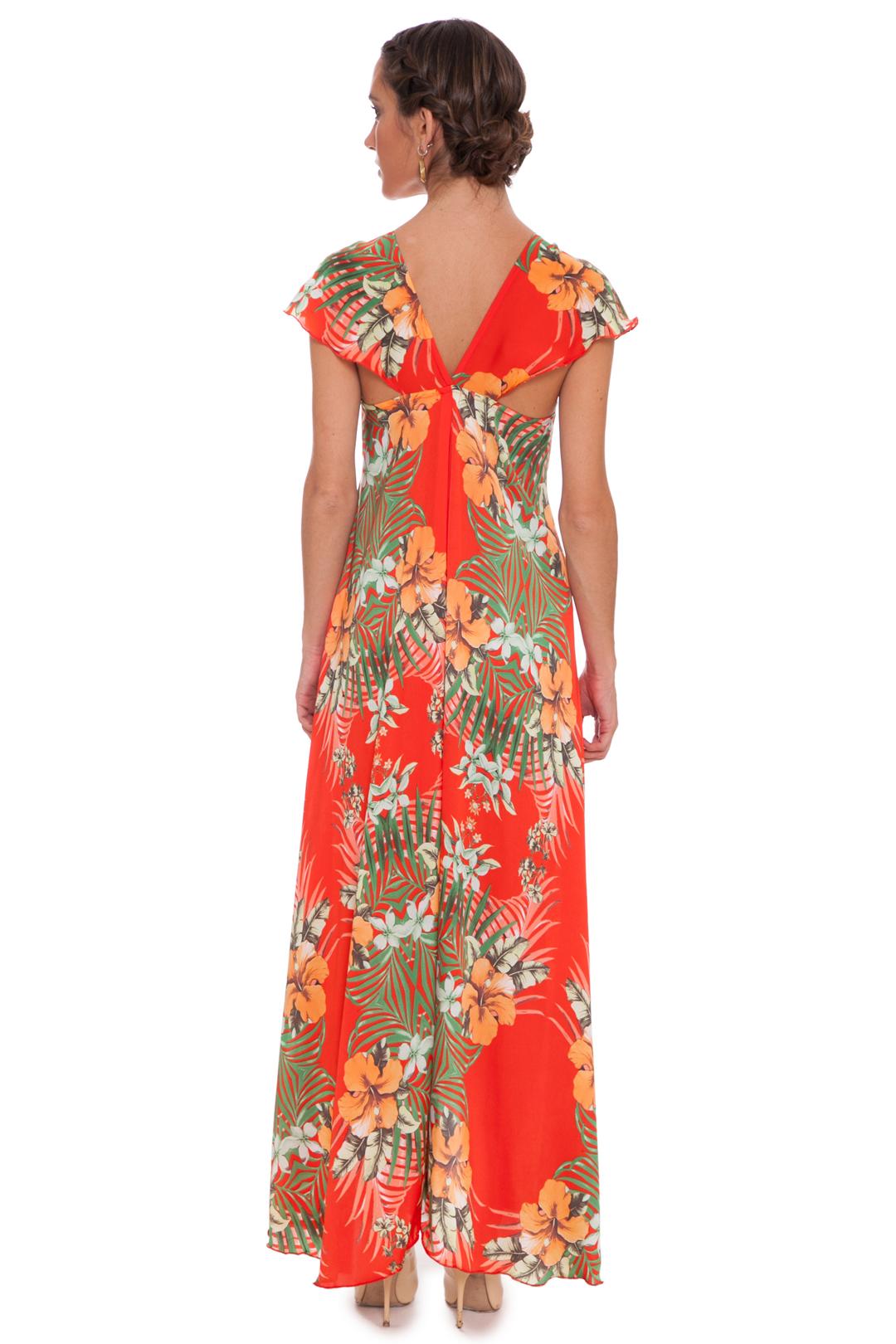 left -  Vestido Tropical Orange