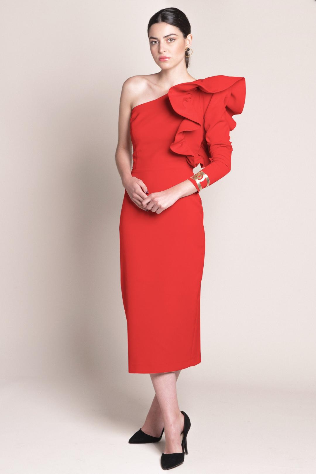 back - Vestido Layla Rojo