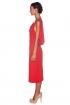 left - Vestido Adela Rojo