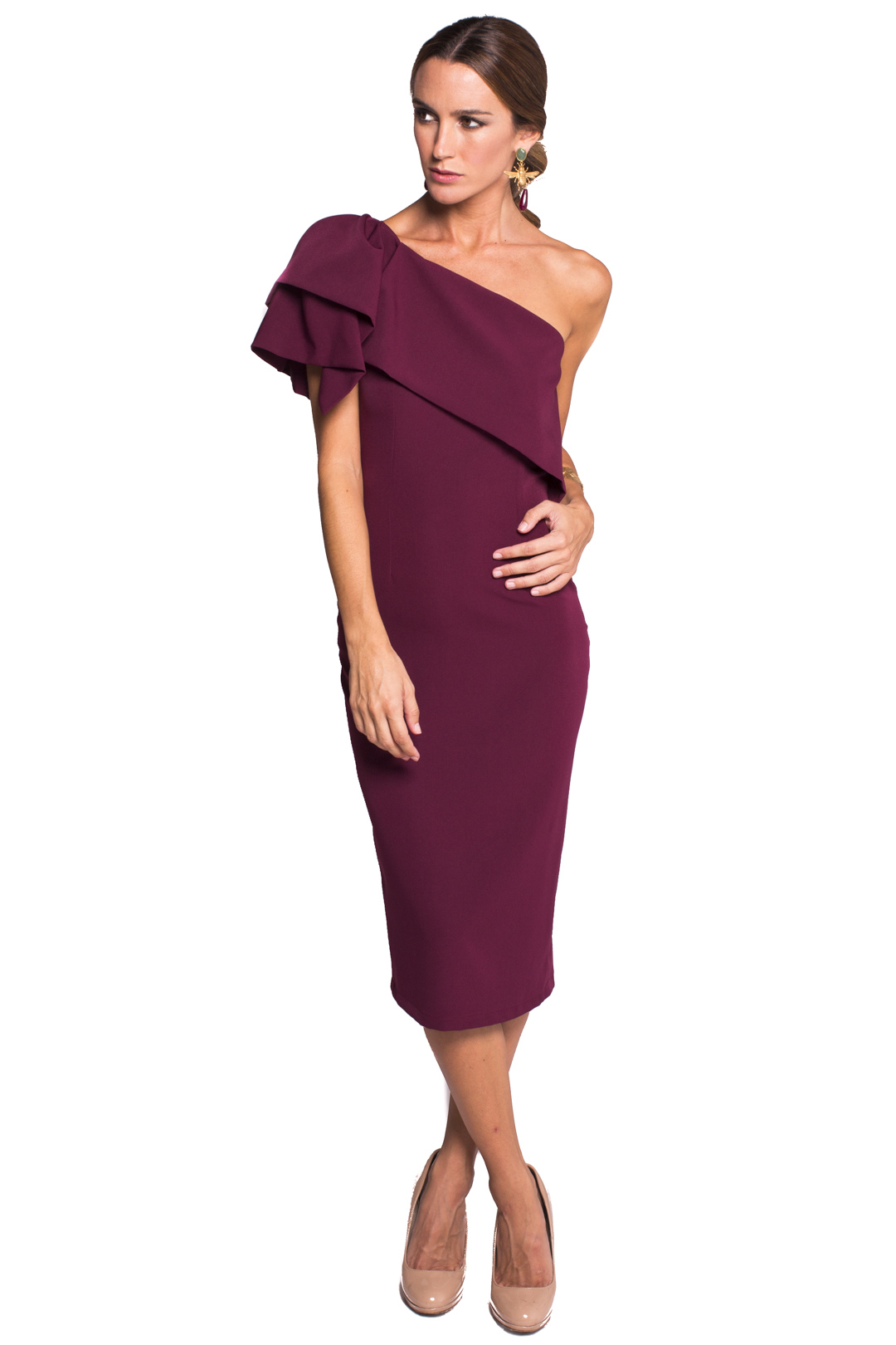 back - Vestido Triana Burgundy