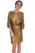 front - Vestido Gold Paillettes