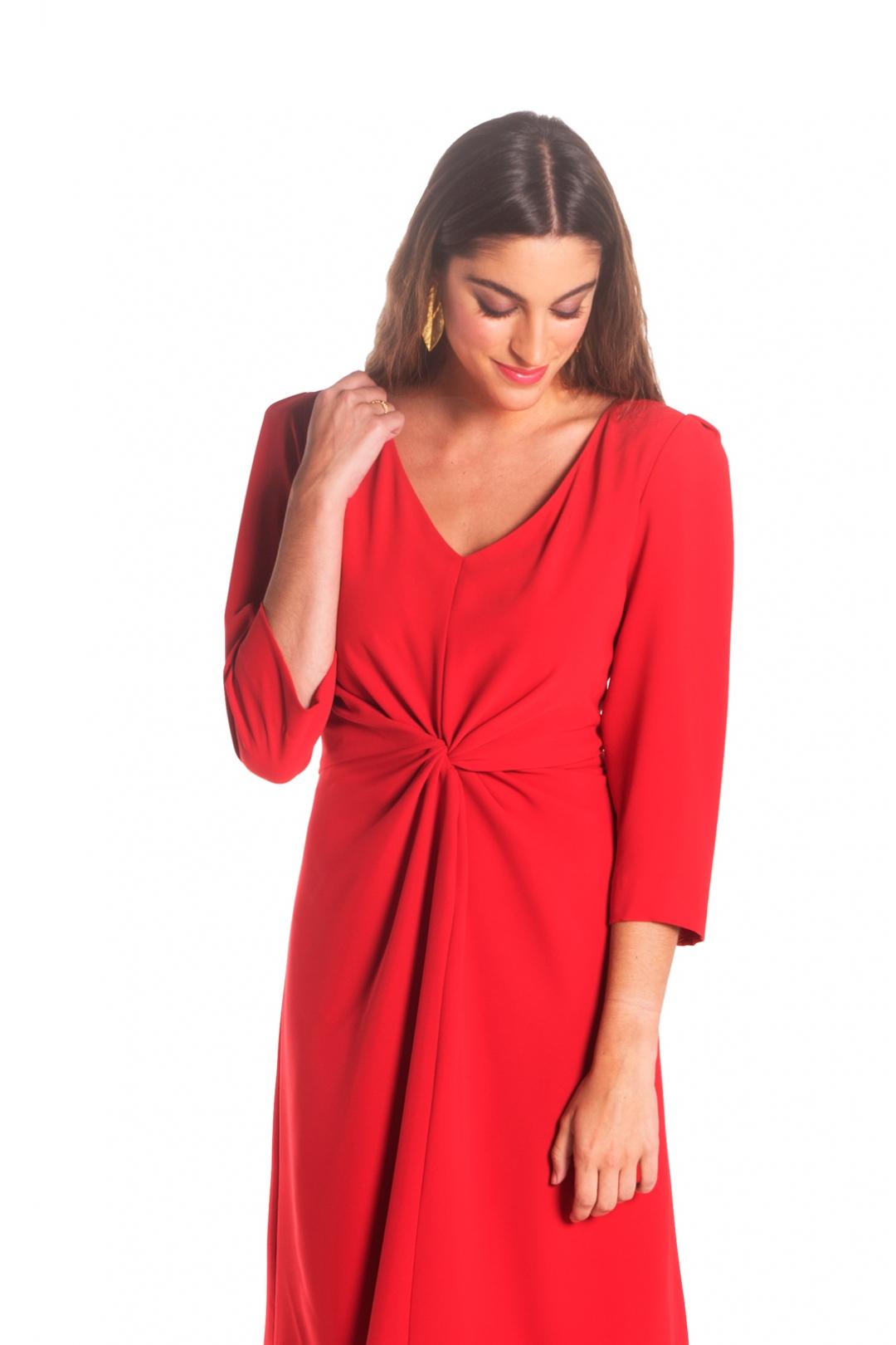 front - Vestido Moli Rojo