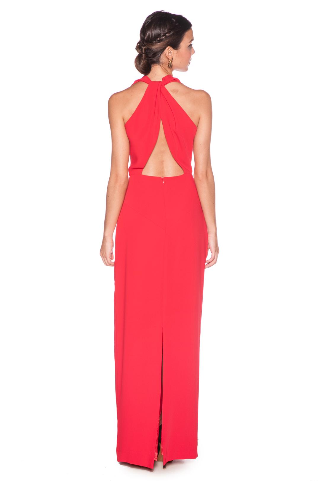back - Vestido Lucila Rojo