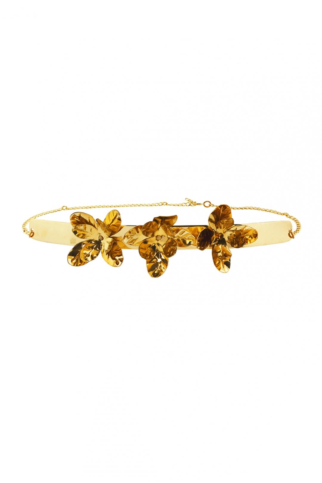 front - Cinturón Gold Flower