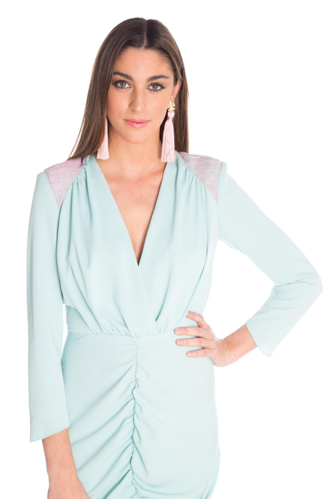 front - Vestido Eulalia Aqua