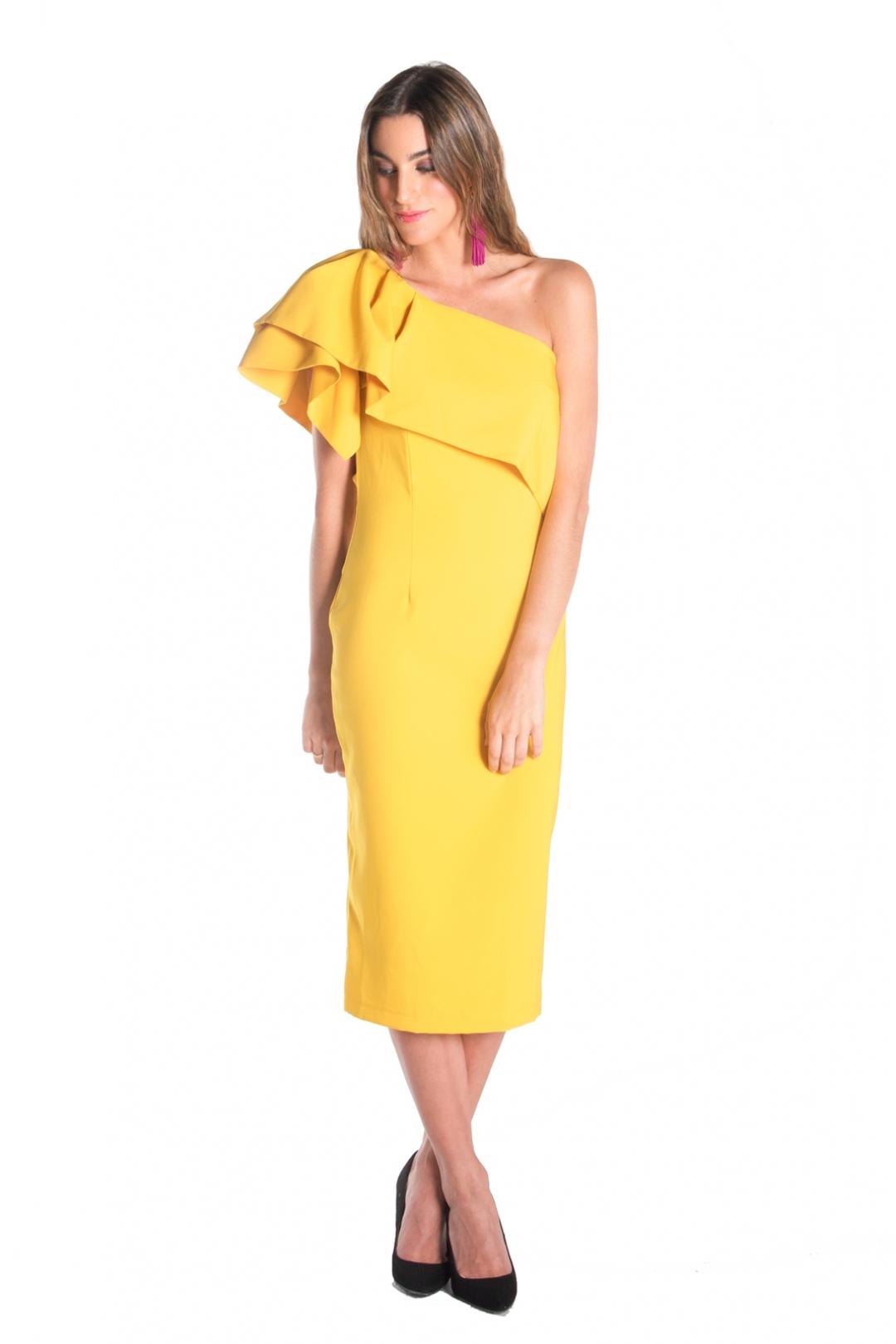 back - Vestido Triana Amarillo