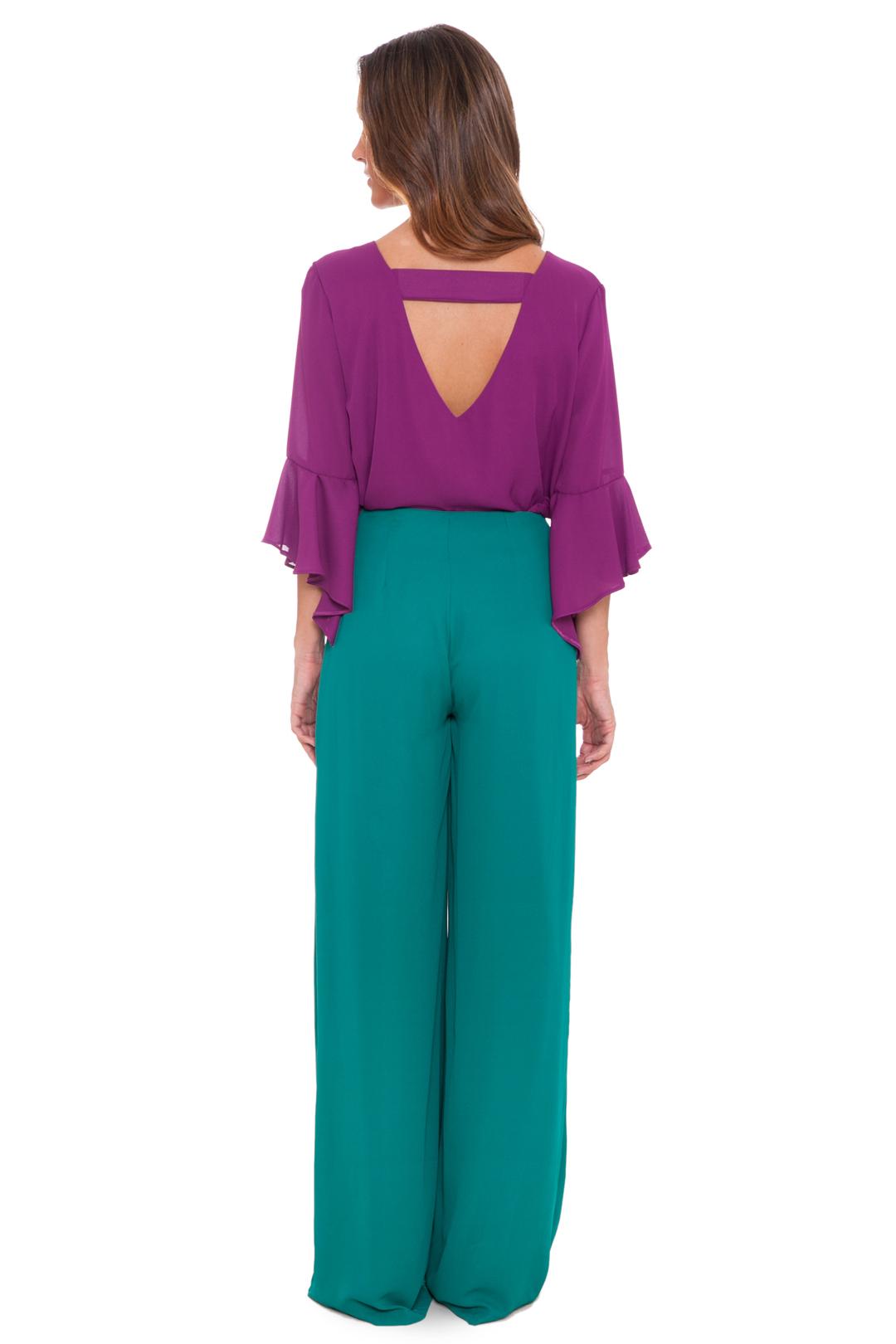 left - Camisa Purple Campana