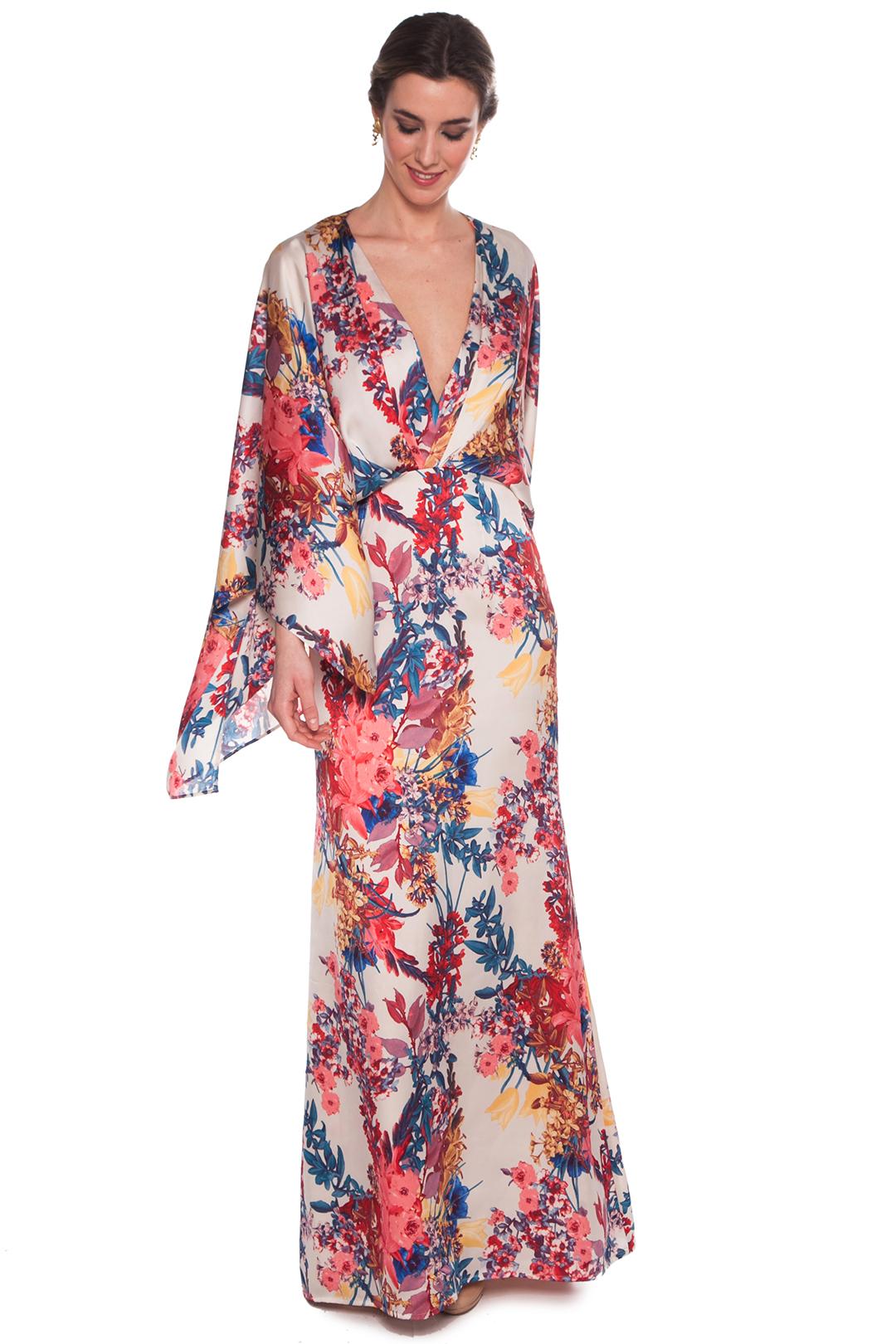 back - Vestido Kimono Print