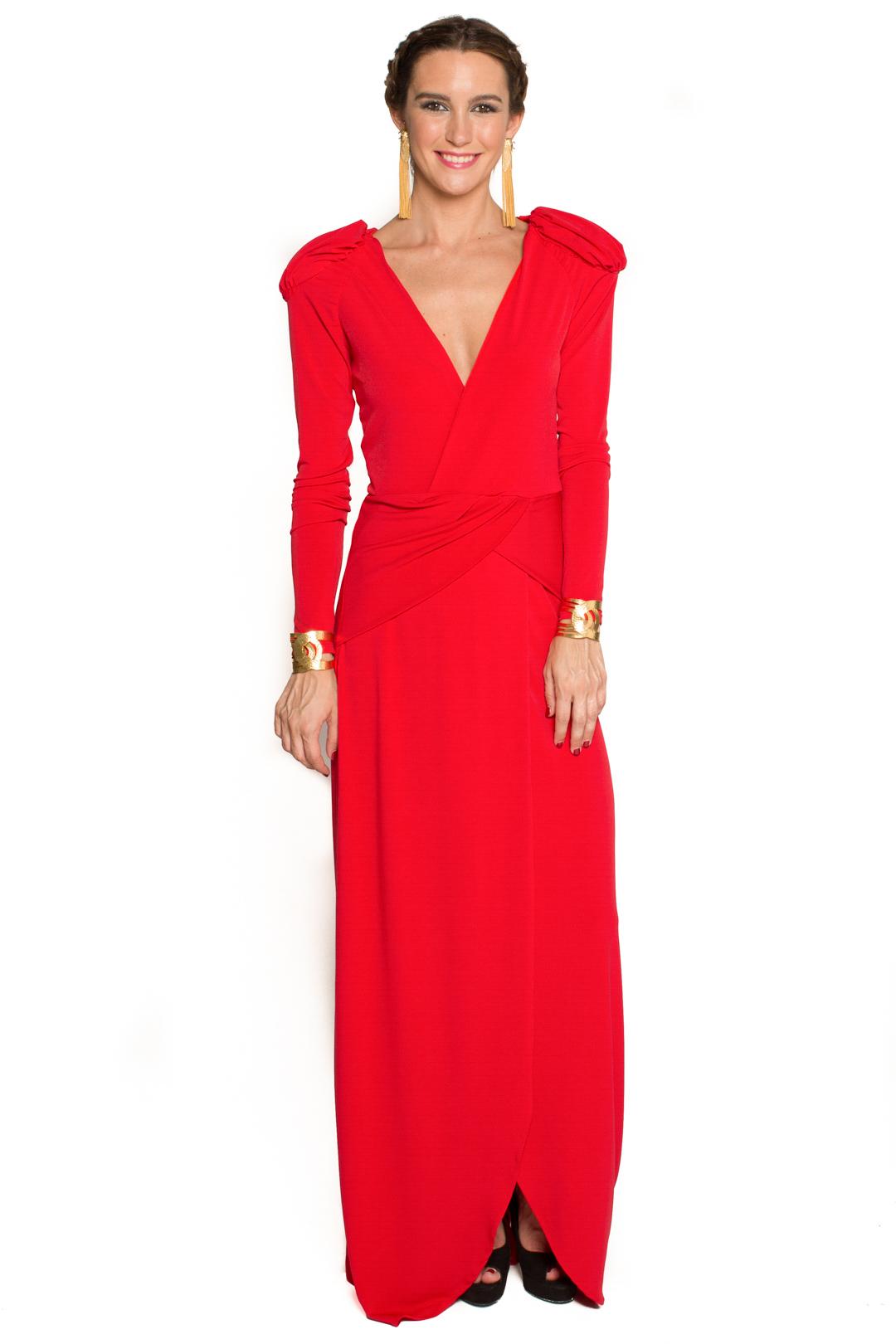 front - Vestido Cher Rojo