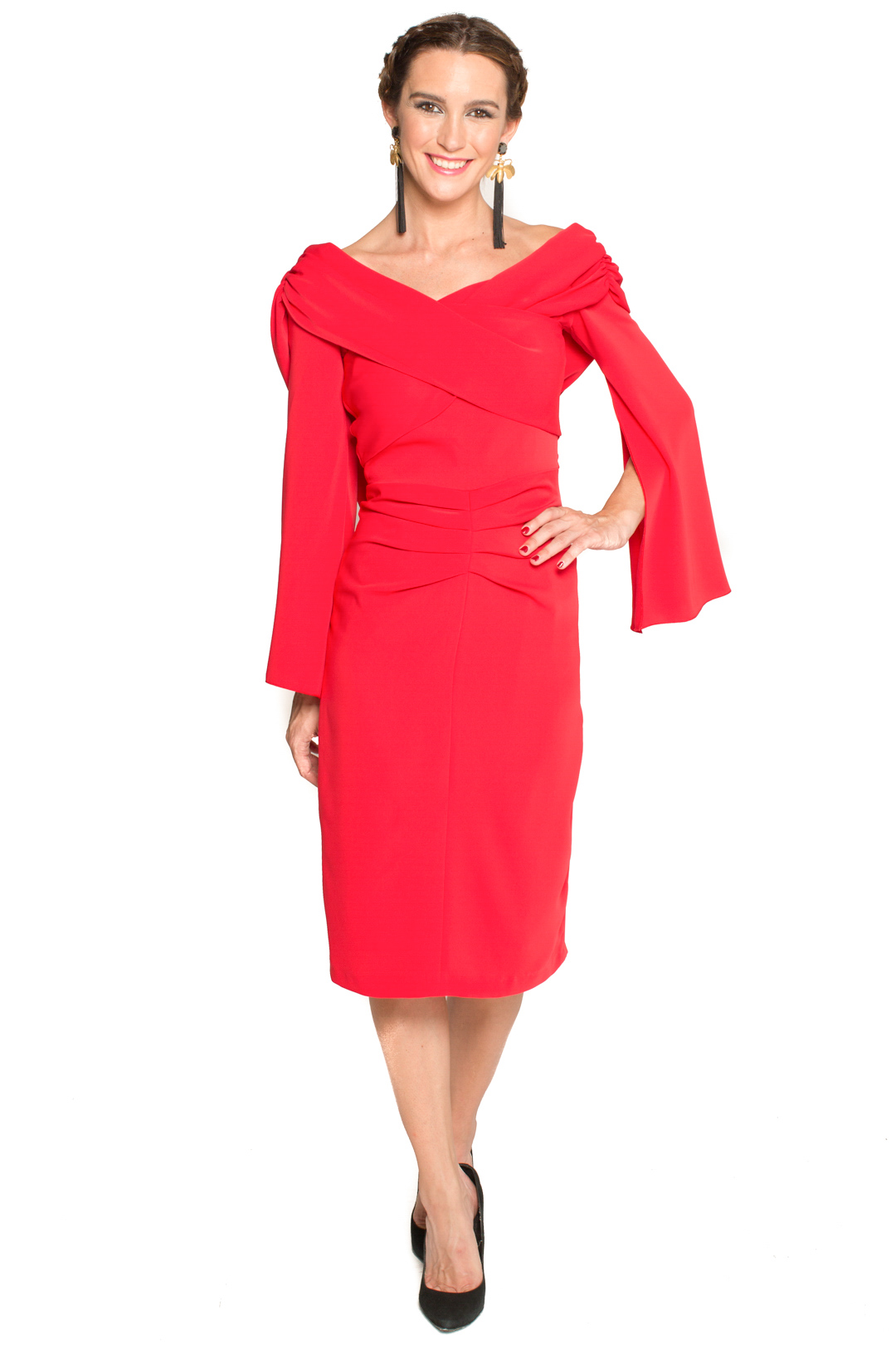 back - Vestido Meg Rojo