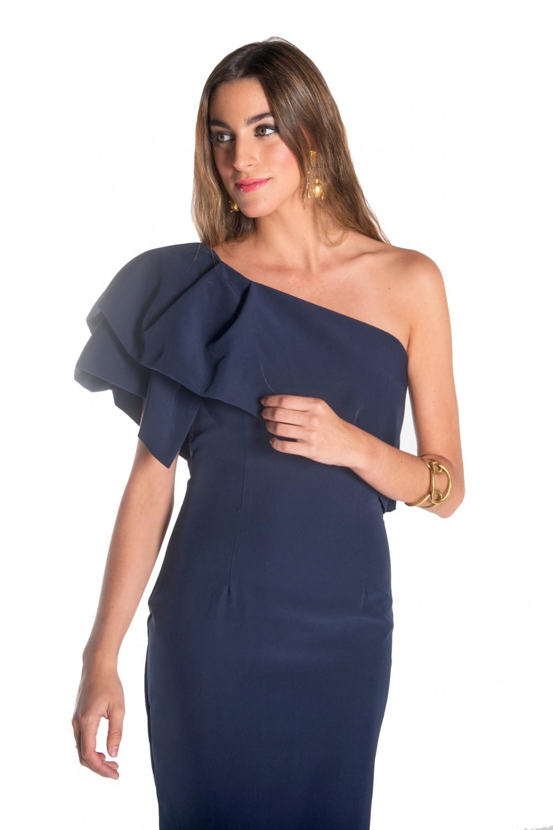 front - Vestido Triana Marino