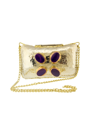 Bolso Purple Stones