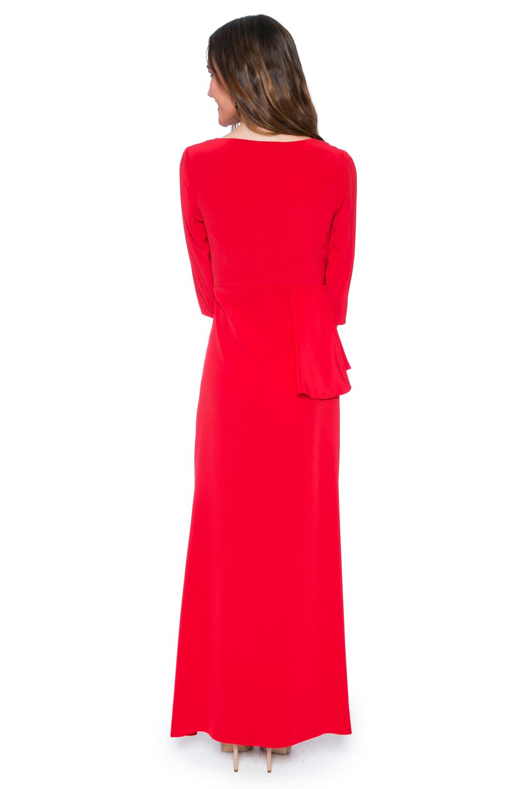 left - Vestido Elie Red