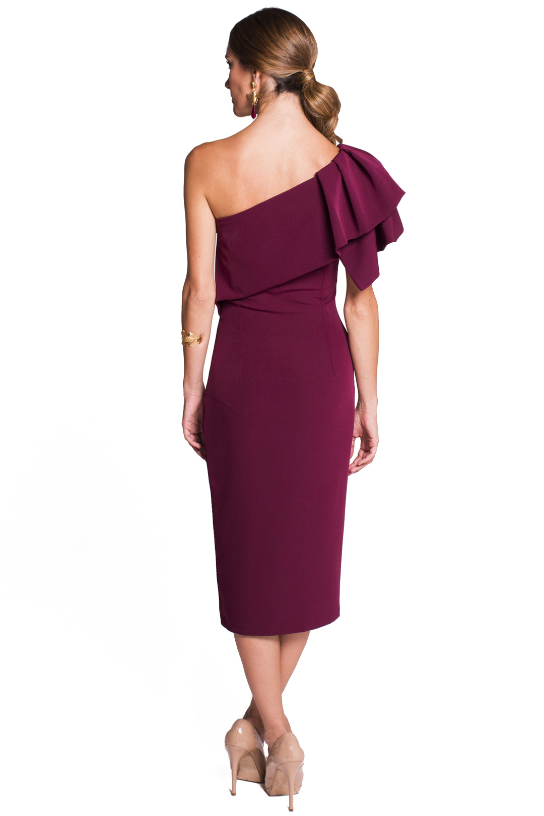 left - Vestido Triana Burgundy