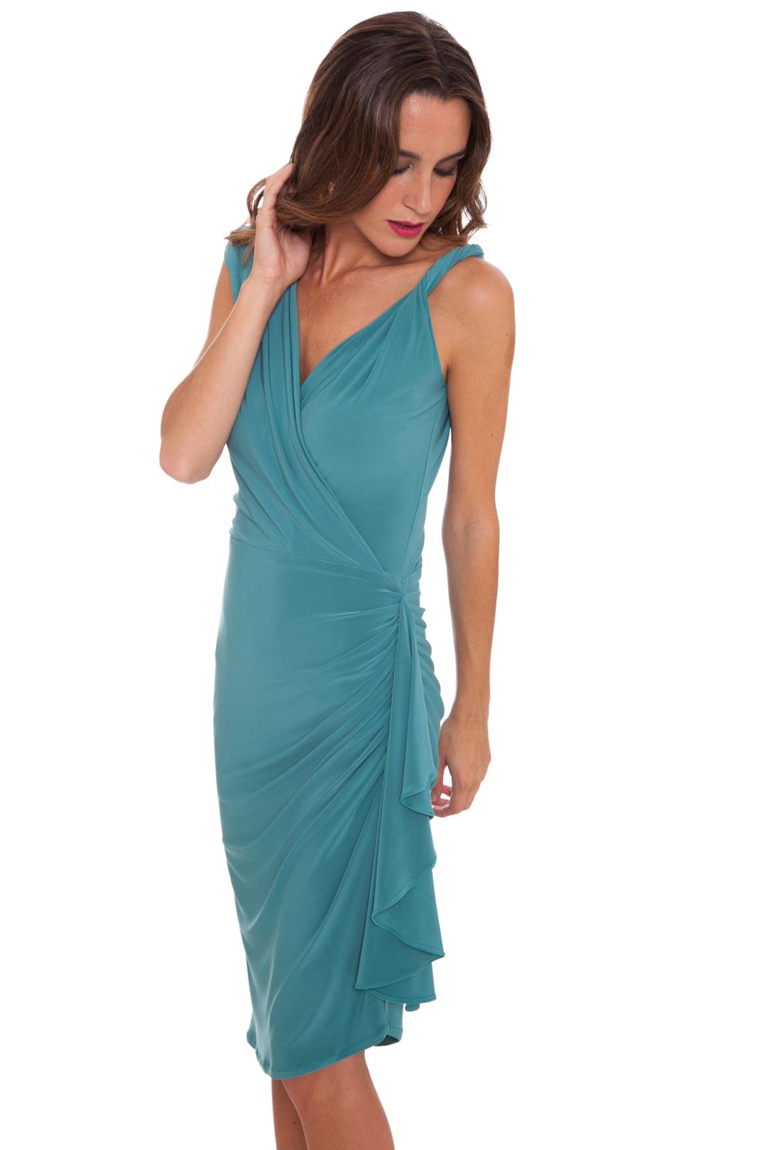 front - Vestido Lavin Green