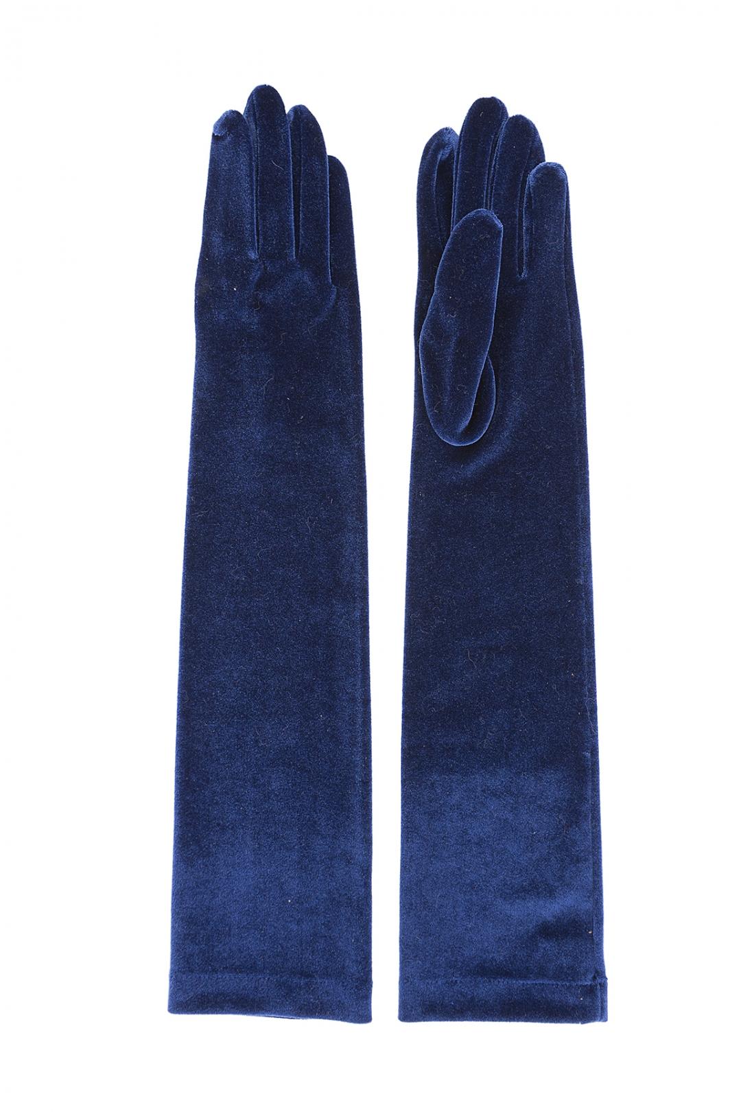 front - Guantes Terciopelo Azul
