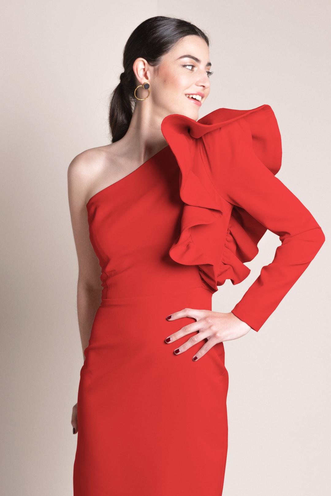 front - Vestido Layla Rojo