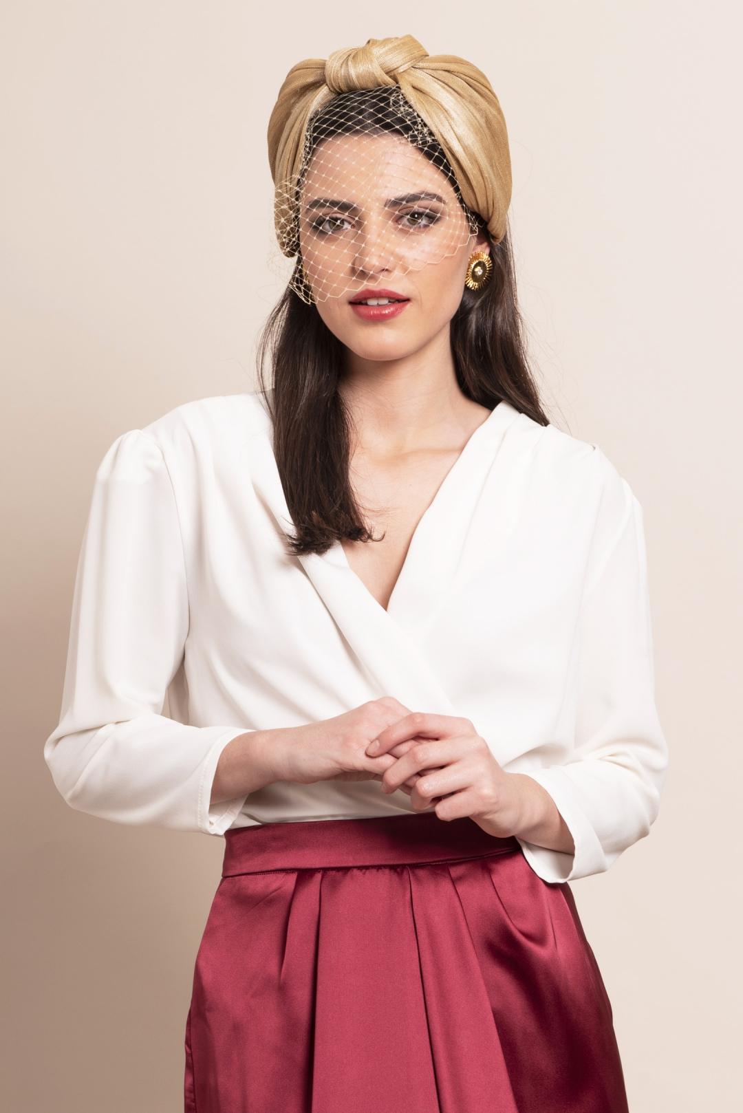 front - Turbante Sira Gold