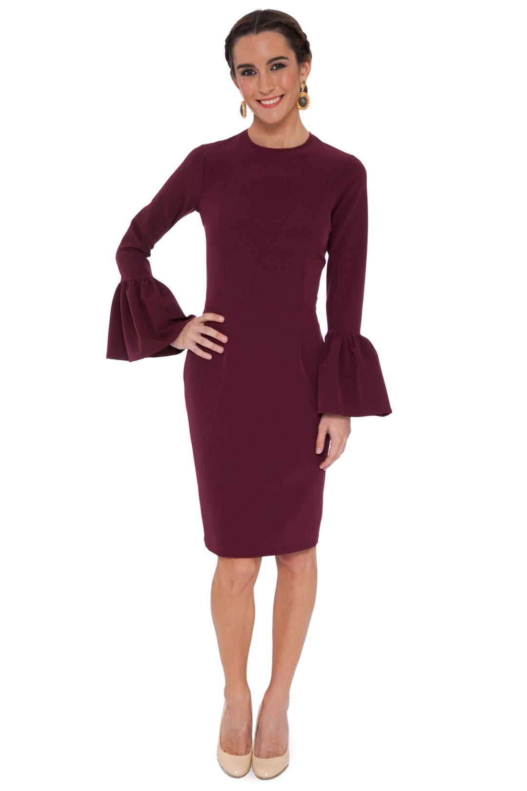 back - Vestido Jerez Burgundy