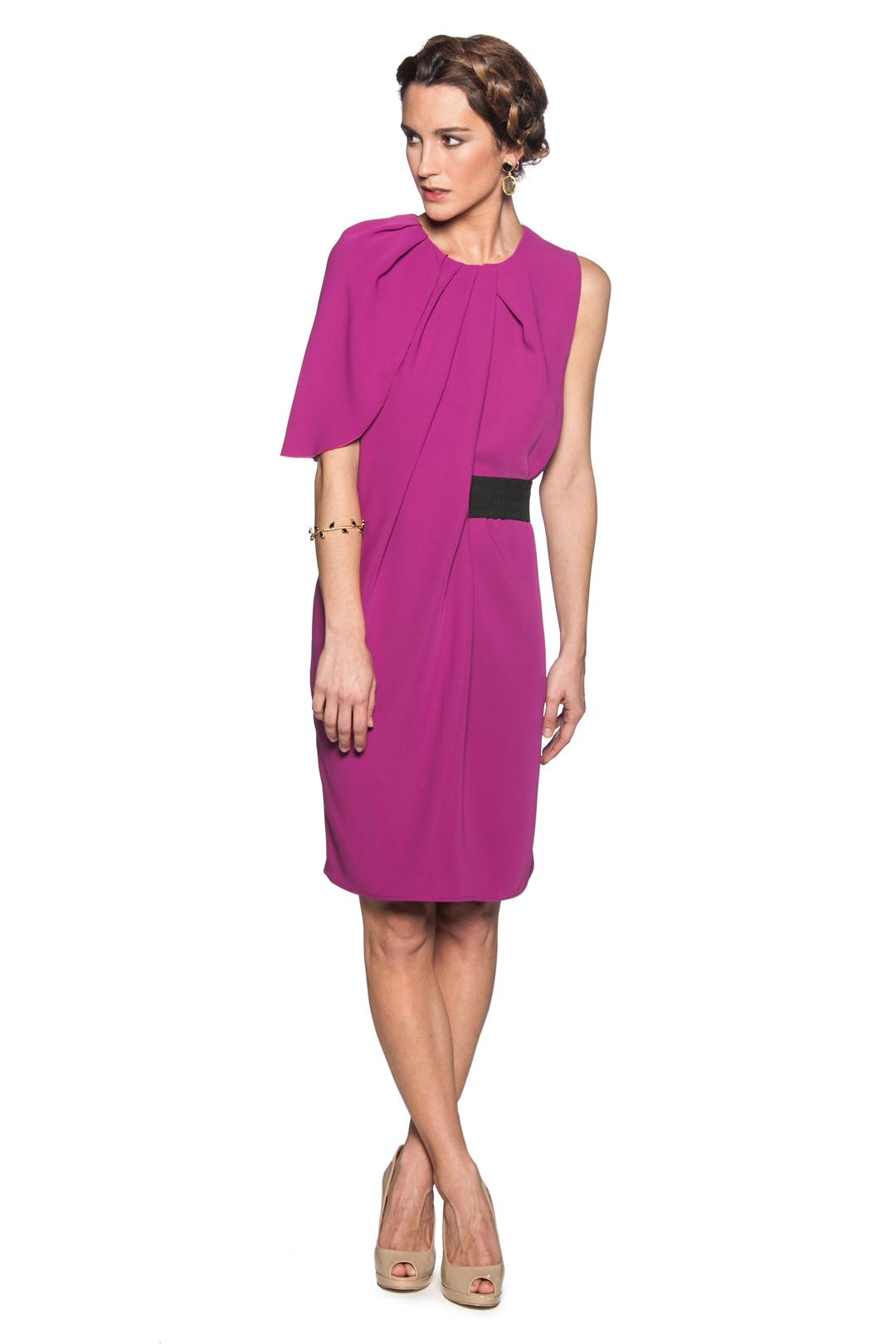 Vestido Frambuesa Belt - Alquiler de Vestidos - La Más Mona