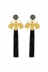 front - Pendientes Butterfly Black