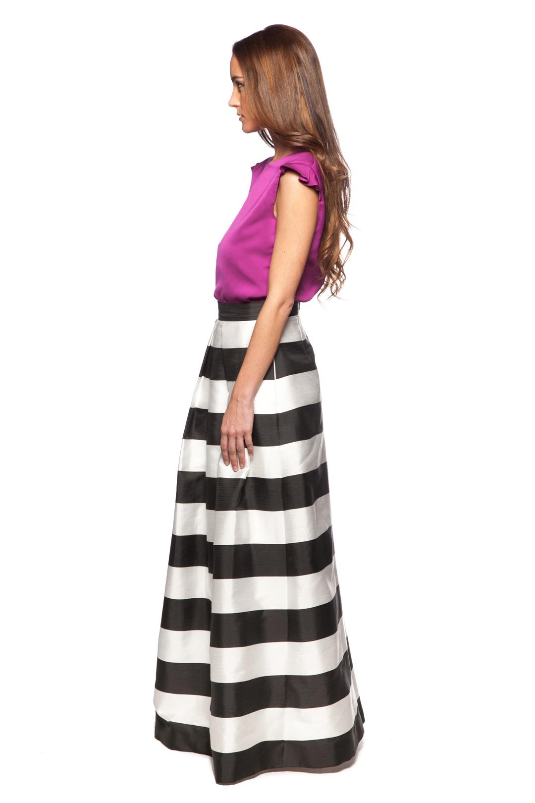left - Falda Stripes Black and White