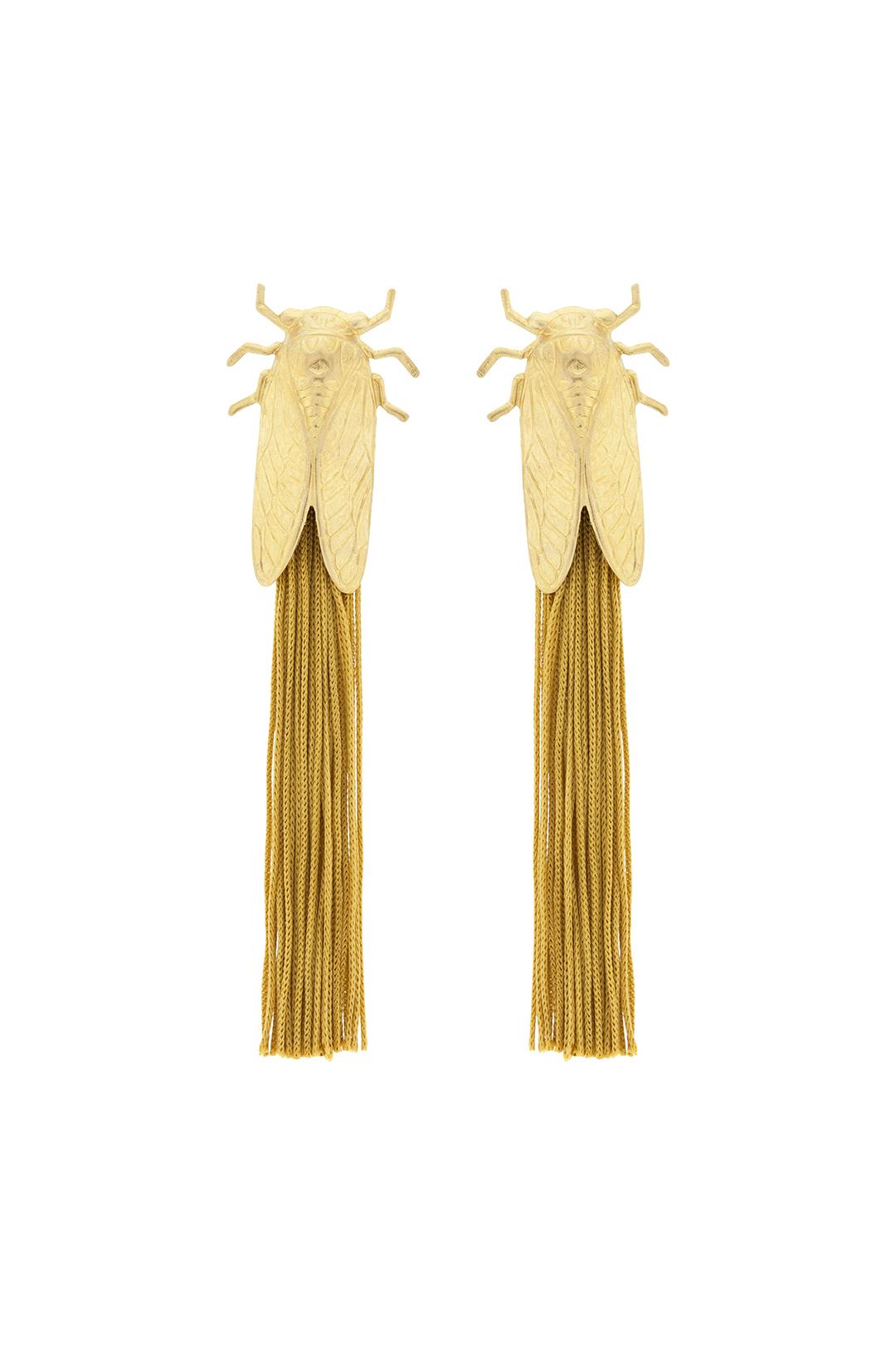 front - Pendientes Chicharra Gold