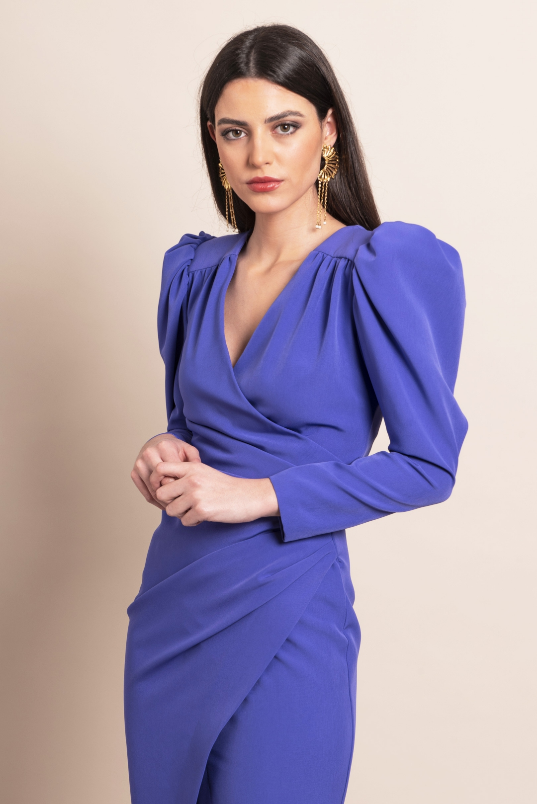 front - Vestido Alejandra Morado