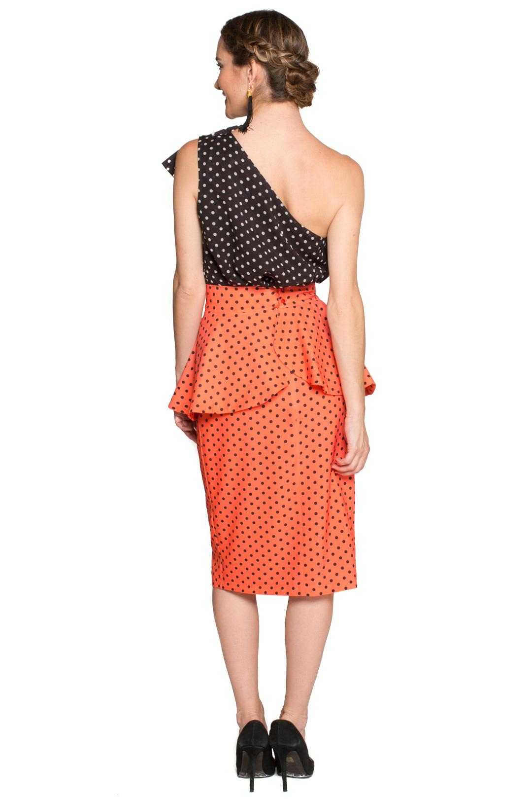 left - Falda Halle Orange